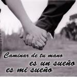 imagen caminar de tu mano es un sueño es mi sueño