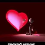imagen de un corazon rojo pintándolo