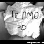 imagen: te amo en papel