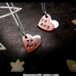 Dos corazones: te amo, para Facebook