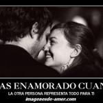 Estás enamorado…..