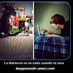 La distancia no es nada cuando se ama