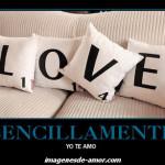 Sencillamente: yo te amo, imagen de amor creativa