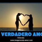 El verdadero amor perdona, cartel para Facebook