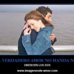 En el verdadero amor no manda nadie obedecen ambos (desmotivacion)