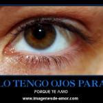 Solo tengo ojos para ti (imagen para etiquetar tu novia o novio)