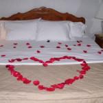 Imágenes con rosas en una cama