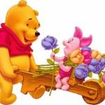 Imagenes de winnie pooh con rosas