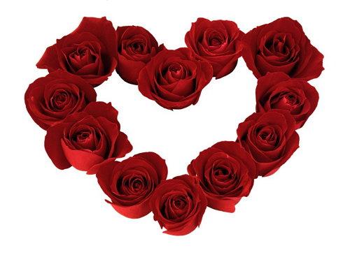 Muchas corazones formando un corazon