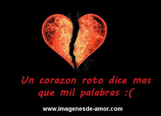 Imagen de desamor: Un corazon roto dice mas que mil palabras