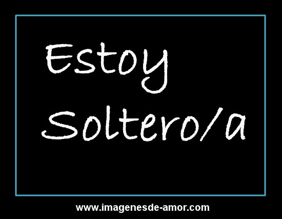 Imagen: Estoy soltero/a