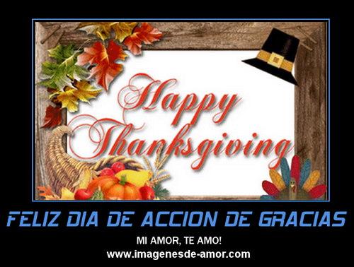 Feliz día de acción de gracias amor